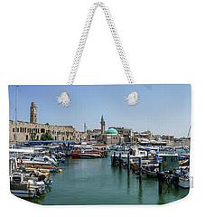 Panorama In Acre Harbor Weekender Tote Bag by Arik Baltinester