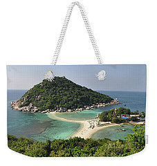 panorama Koh Nang Yuan Weekender Tote Bag by Sushko