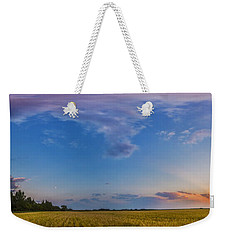 Panorama Of A Colorful Sunset Weekender Tote Bag