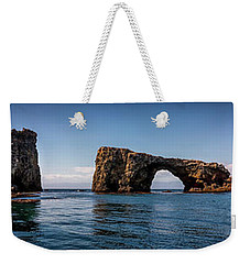 Weekender Tote Bag featuring the photograph Panorama Of Anacapa Rocks by Endre Balogh