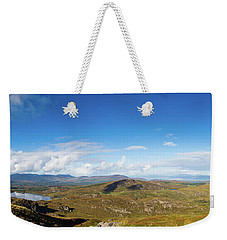 Weekender Tote Bag featuring the photograph Panorama Of Ballycullane And Lough Acoose In Ireland by Semmick Photo