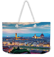 Weekender Tote Bag featuring the photograph Panorama Of Florence by Fabrizio Troiani