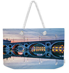 Weekender Tote Bag featuring the photograph Panorama Of Pont Neuf In Toulouse by Elena Elisseeva