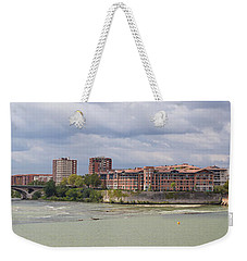 Weekender Tote Bag featuring the photograph Panorama Of The Hydroelectric Power Station In Toulouse by Semmick Photo