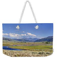 Panorama Of The Lamar Valley Weekender Tote Bag