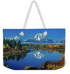 Panorama Oxbow Bend Grand Tetons National Park Wyoming Weekender Tote Bag