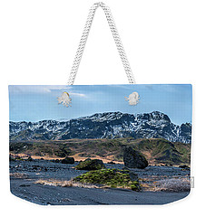 Panorama View Of An Icelandic Mountain Range Weekender Tote Bag