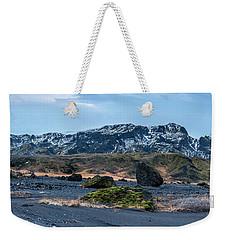 Panorama View Of An Icelandic Mountain Range Weekender Tote Bag