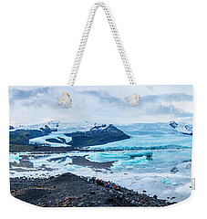 Panorama View Of Icland's Secret Lagoon Weekender Tote Bag