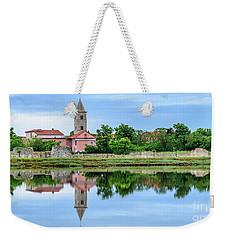 Panoramic Reflections Of Nin, Croatia Weekender Tote Bag