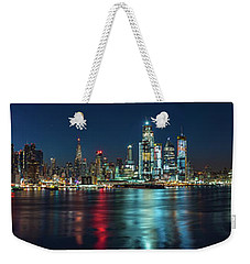 Weekender Tote Bag featuring the photograph Panoramic Skyline-manhattan by Francisco Gomez