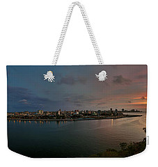 Panoramic View Of Havana From La Cabana. Cuba Weekender Tote Bag