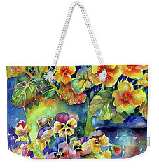 Pansies And Primroses Weekender Tote Bag