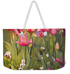 Pansies And Tulips Weekender Tote Bag by Lana Trussell