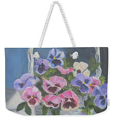 Pansies For A Friend Weekender Tote Bag