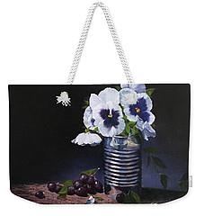 Pansies In A Can Weekender Tote Bag