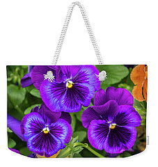 Pansies In Purple And Blue Weekender Tote Bag