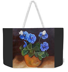 Pansies In Terracotta Weekender Tote Bag by Susan Dehlinger