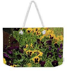 Pansies Weekender Tote Bag by Kim Henderson