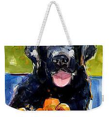 Pansies Weekender Tote Bag by Molly Poole