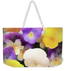 Pansies Weekender Tote Bag