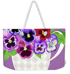 Pansies Stand For Thoughts Weekender Tote Bag