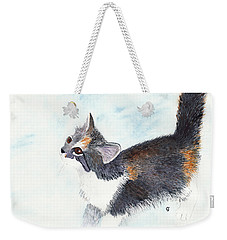 Calico Barn Cat Watercolor Weekender Tote Bag