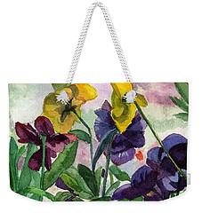Pansy Field Weekender Tote Bag