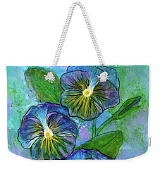 Pansy On Water Weekender Tote Bag