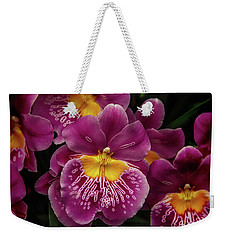 Pansy Orchid Weekender Tote Bag by Garry Gay