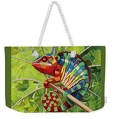 Panther Chameleon Weekender Tote Bag by Shawna Rowe