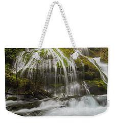 Panther Creek Falls In Fall Season Weekender Tote Bag