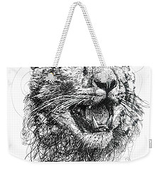 Leopard Weekender Tote Bag by Michael Volpicelli