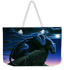 Panther On Rock Weekender Tote Bag by MGL Studio - Chris Hiett
