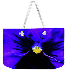 Weekender Tote Bag featuring the photograph Pantone Pansy by Jessica Manelis