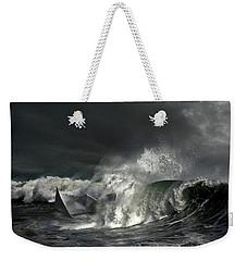 Weekender Tote Bag featuring the digital art Paper Boat by Evgeniy Lankin