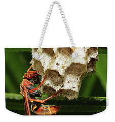 Paper Wasps 00666 Weekender Tote Bag by Kevin Chippindall