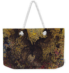 Weekender Tote Bag featuring the painting Papillon Noir - Dark Butterfly - Mariposa Negra by Marc Philippe Joly