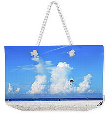 Weekender Tote Bag featuring the photograph Para Sailing On Siesta Key by Gary Wonning