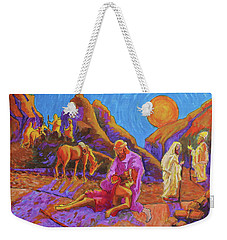 Parables Of Jesus Parable Of The Good Samaritan Painting Bertram Poole Weekender Tote Bag by Thomas Bertram POOLE