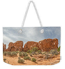 Weekender Tote Bag featuring the photograph Parade Of Elephants by Sue Smith
