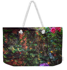Paradise By The Backyard Gate - City Garden Weekender Tote Bag by Miriam Danar