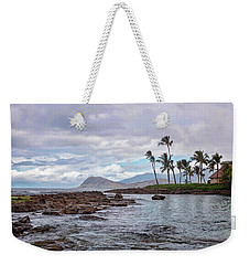 Weekender Tote Bag featuring the photograph Paradise Cove Lagoon by Heather Applegate