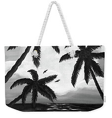 Paradise In Black And White Weekender Tote Bag