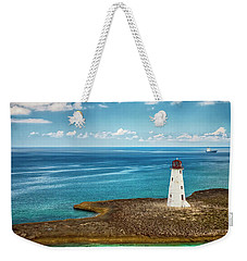 Paradise Island Lighthouse Weekender Tote Bag