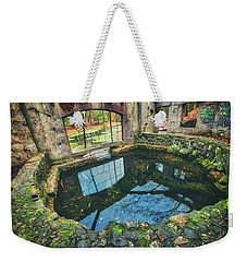 Weekender Tote Bag featuring the photograph Paradise Springs- Spring House - Kettle Moraine State Forest by Jennifer Rondinelli Reilly - Fine Art Photography