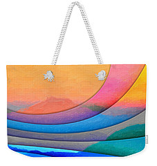 Parallel Dimensions - The Sacred Mountain Weekender Tote Bag by Serge Averbukh