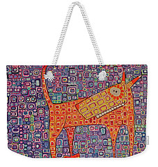 Weekender Tote Bag featuring the painting Paranoid by Donna Howard
