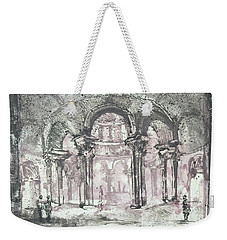 Weekender Tote Bag featuring the painting Paraphrase After Giovanni Piranesi Tomb Of Costanza by Martin Stankewitz
