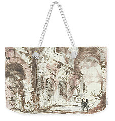 Weekender Tote Bag featuring the painting Paraphrase After Piranesi by Martin Stankewitz